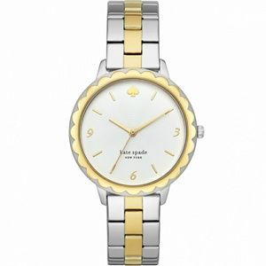 Kate Spade Scallop silver gold women's watch